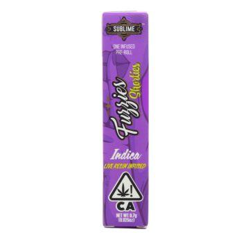 Sublime Slurricane Indica .7g Pre Roll (Fuzzies Shorties) (THC 45.52%)