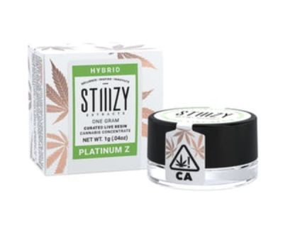 Platinum Z Curated Live Resin Extract (1g Stiiizy)