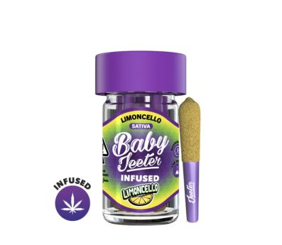 Baby Jeeter INFUSED Limoncello .5g 5-Pack Prerolls (THC 40.5%)